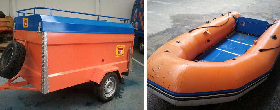 barca y remolque